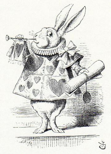 White Rabbit as Herald